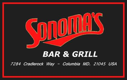 SONOMA'S BAR & GRILL, 7284 Cradlerock Way, Columbia, MD., 21045, USA
